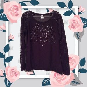 Sheer & Lace Blouse